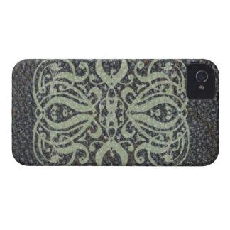 Caixa corajosa de Blackberry do rolo de couro Capa Para iPhone