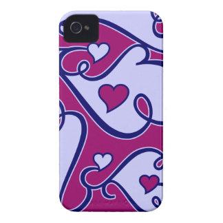 Caixa corajosa de Blackberry dos corações Capa Para iPhone