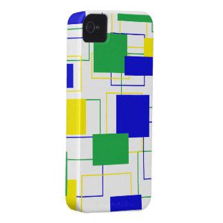 Caixa corajosa de Blackberry dos quadrados bonitos Capinhas iPhone 4
