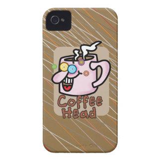 Caixa corajosa principal de Blackberry do café Capas Para iPhone 4 Case-Mate