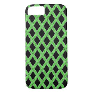 Caixa cruzada verde e preta do telemóvel capa iPhone 7