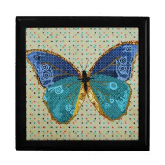 Caixa da arte da borboleta de Boho Porta Jóias