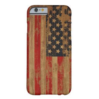 Caixa da bandeira americana capa barely there para iPhone 6