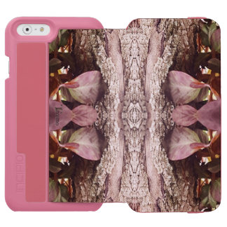 Caixa da carteira da arte da natureza dos folhos capa carteira incipio watson™ para iPhone 6