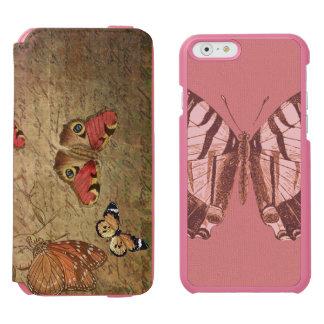 Caixa da carteira da borboleta capa carteira incipio watson™ para iPhone 6