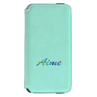 Caixa da carteira do iPhone 6 de Aime no azul Capa Carteira Incipio Watson™ Para iPhone 6