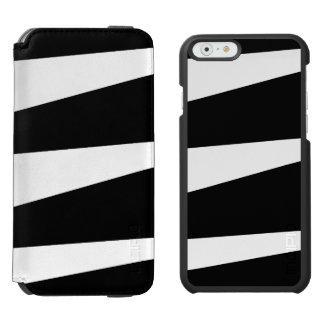 Caixa da carteira do iPhone 6 de Black&White