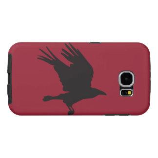 Caixa da galáxia de Samsung do corvo Capas Samsung Galaxy S6