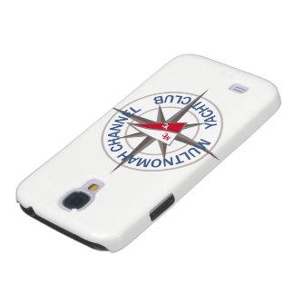 Caixa da galáxia S4 de Samsung com logotipo de Galaxy S4 Case