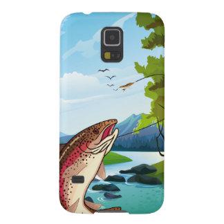 Caixa da galáxia S5 de Samsung da pesca com mosca Capa Para Galaxy S5