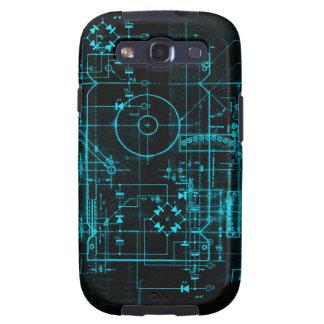Caixa da galáxia S 3 do modelo do geek Capas Personalizadas Samsung Galaxy S3
