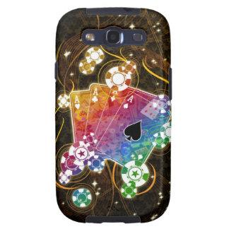Caixa da galáxia S de Samsung do póquer Capinha Samsung Galaxy S3