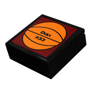 Caixa da lembrança do basquetebol porta treco