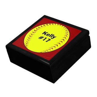 Caixa da lembrança do softball de Fastpitch Estojo Para Jóia