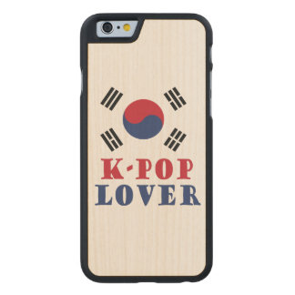 Caixa da madeira de Iphone do amante do K-Pop