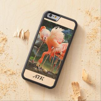Caixa da madeira do bordo do iPhone 6/6s do Capa De Madeira De Bordo Bumper Para iPhone 6