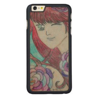 Caixa da madeira do iPhone 6 da beleza Capa Para iPhone 6 Plus De Carvalho, Carved®
