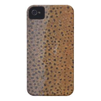 Caixa de Blackberry da truta de Brown Capa Para iPhone 4 Case-Mate