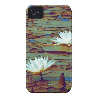 Caixa de Blackberry das flores de Lotus Capa Para iPhone 4 Case-Mate