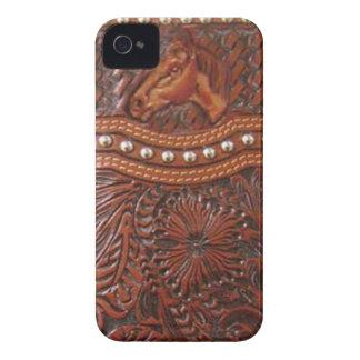 """""""Caixa de Blackberry ocidental de cavalo selvagem"""" Capinha iPhone 4"""