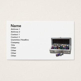 Caixa de bonecas da preocupação cartão de visitas