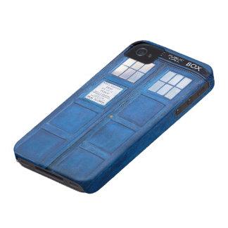 Caixa de chamada engraçada azul da cabine de capa para iPhone 4 Case-Mate