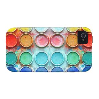 Caixa de cor da pintura do divertimento capa para iPhone 4/4S