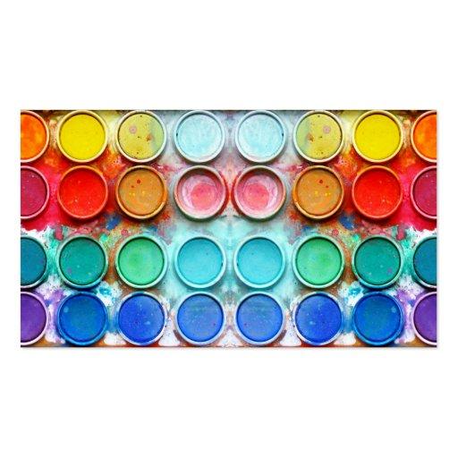 Caixa de cor da pintura do divertimento modelo cartao de visita
