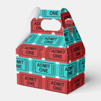 Caixa de duas cores do favor de partido do bilhete