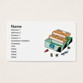 Caixa de equipamento cartão de visitas