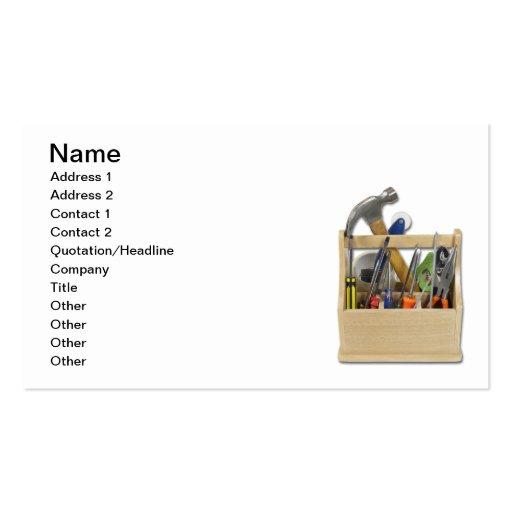 Caixa de ferramentas pronta das ferramentas cartões de visita