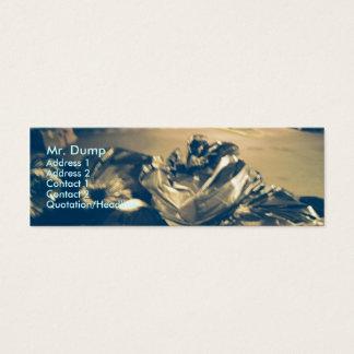 Caixa de lixo cartão de visitas mini