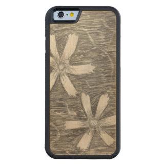 caixa de madeira da cereja abundante do iPhone Capa De Carvalho Bumper Para iPhone 6