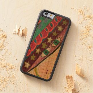 caixa de madeira da cereja abundante do iPhone Capa De Cereja Bumper Para iPhone 6