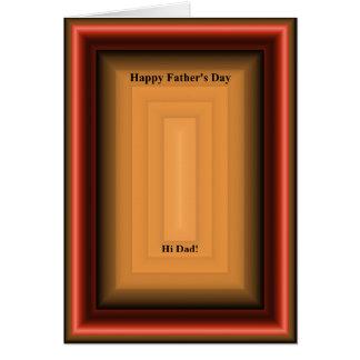 Caixa de madeira do dia dos pais cartões
