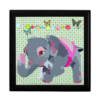 Caixa de presente afortunada do elefante de Lil