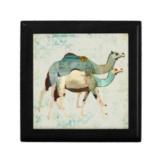 Caixa de presente azul sonhadora dos camelos II