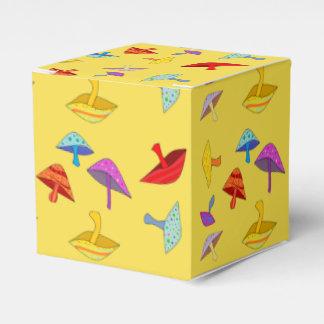 caixa de presente colorida dos cogumelos
