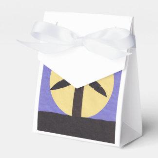 Caixa de presente com design da palmeira