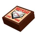 Caixa de presente da jóia da lembrança do basebol