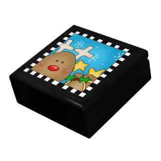 Caixa de presente da rena do Natal grande