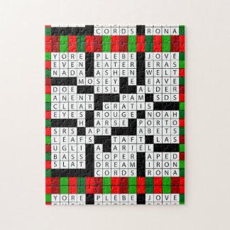 Caixa de presente das palavras cruzadas dos quebra-cabeça