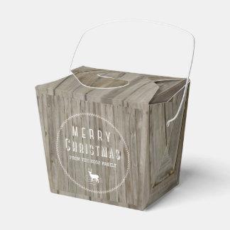 Caixa de presente de época natalícia da floresta