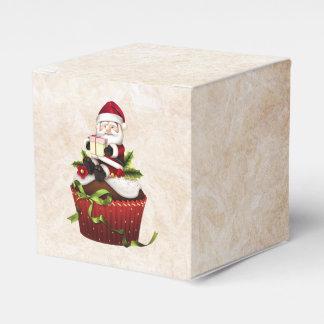 Caixa de presente do cupcake do papai noel