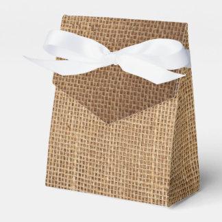 Caixa de presente do favor com canvas marrons caixinha de lembrancinhas