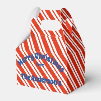 Caixa de presente do Natal da listra do bastão de