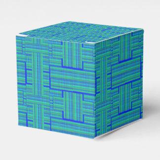 caixa de presente do tartan do verde azul