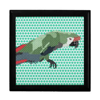 Caixa de presente do verde do Macaw de Molly