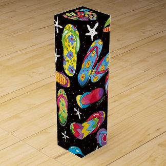 Caixa de presente do vinho dos flip-flops caixa para garrafa de vinho