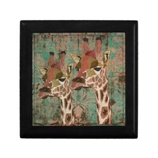 Caixa de presente dos girafas de Rosa